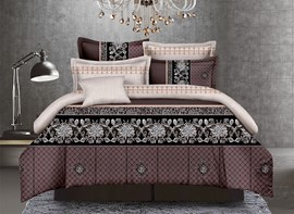 Vivilinen Sophisticated Pattern 4-Piece Polyester Duvet Cover Sets