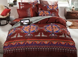 Vivilinen Bohemia Exotic Patterns Print Polyester 4-Piece Bedding Sets
