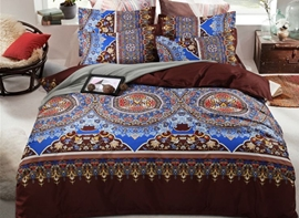 Vivilinen Bohemian Exotic Style Lightweight Polyester 4-Piece Bedding Sets