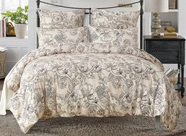 Vivilinen Floral Printed Polyester 3-Piece Bedding Sets/Duvet Cover
