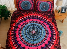 Vivilinen Moroccan Medallion Print Polyester 3-Piece Bedding Sets