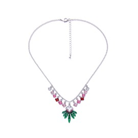 Ericdress Dazzle Colour Gems Christmas Tree Leaves Pendant Women's Necklace