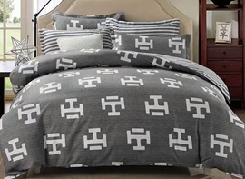 Vivilinen Unique Pattern Design Gray 4-Piece Polyester Duvet Cover Sets
