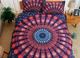 Vivilinen Bohemian Style Indian Mandala Print Polyester 3-Piece Bedding Sets
