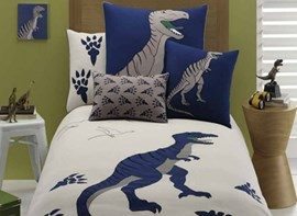 Vivilinen Dinosaur Embroiderys 4 Pieces Cotton Duvet Cover Sets