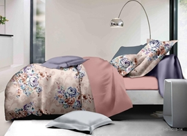 Vivilinen Fancy Floral Print Polyester 4-Piece Duvet Cover Sets