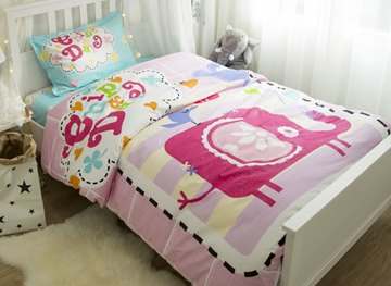 kids bedding sets for girls & boys with cute animal print
