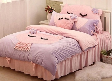 Vivilinen Special Design Cute Cat 4-Piece Duvet Cover Sets