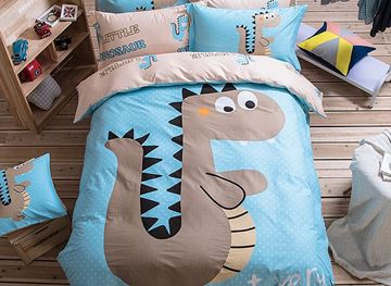 Vivilinen Cartoon Dinosaur Pattern Cotton Blue Duvet Covers/Bedding Sets