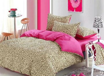 Vivilinen Fashion Sexy Leopard 4 Piece Bedding Sets/Duvet Cover Sets