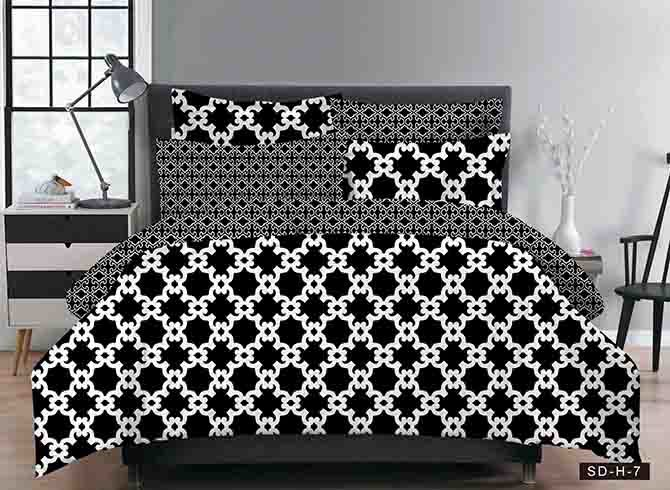 Vivilinen Black and White Geometric Polyester 3-Piece Bedding Sets/Duvet Covers