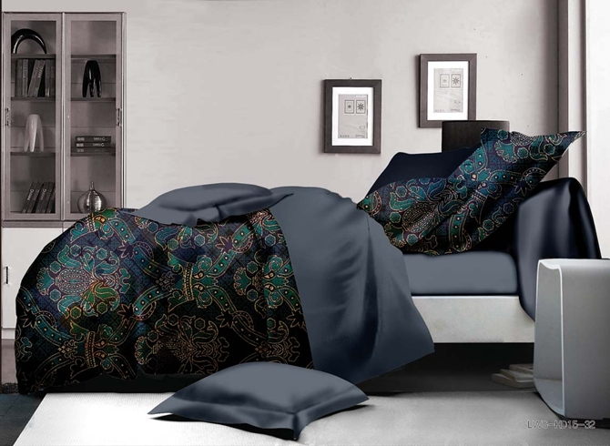 Vivilinen Exquisite Damask Print Polyester 4-Piece Duvet Cover Sets