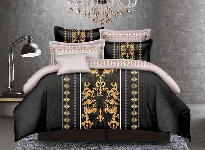 Vivilinen Noble Style Damask Print Polyester 4-Piece Duvet Cover Sets