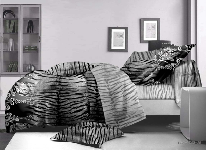 Vivilinen Tiger Stripes Print Polyester 4-Piece Duvet Cover Sets