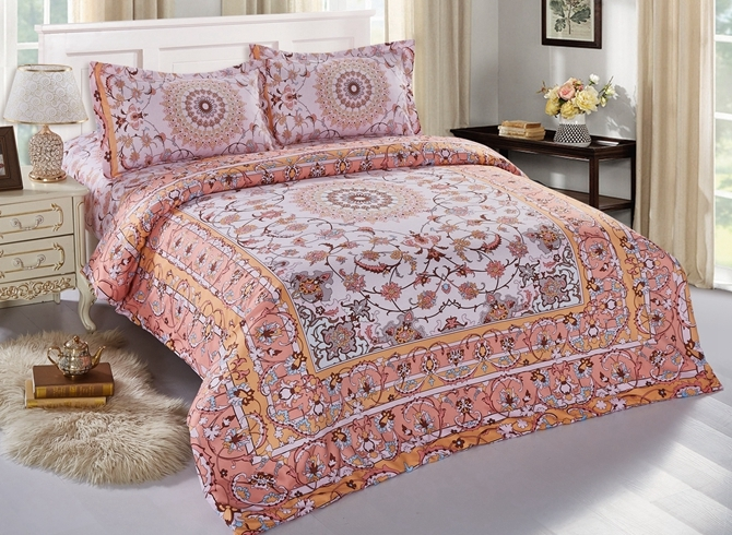 Vivilinen Arabesque Print Polyester 4-Piece Duvet Cover Sets