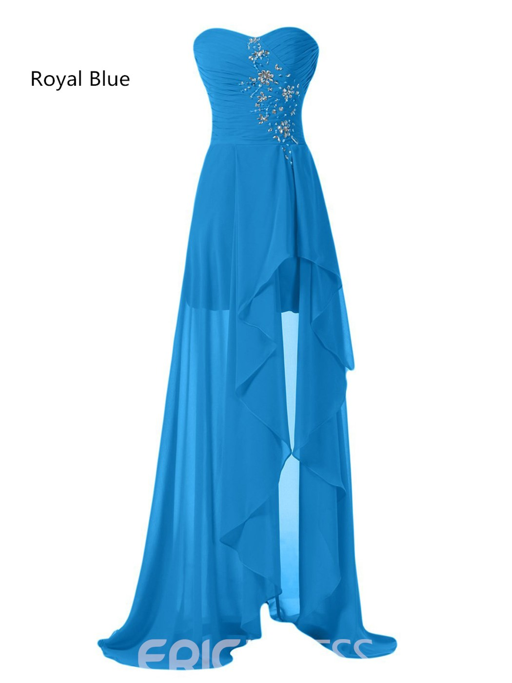 Ericdress Beautiful Sweetheart Asymmetry Bridesmaid Dress