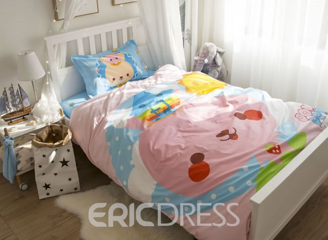 Vivilinen Cartoon Baby Printed Cotton 3-Piece Duvet Covers/Bedding Sets
