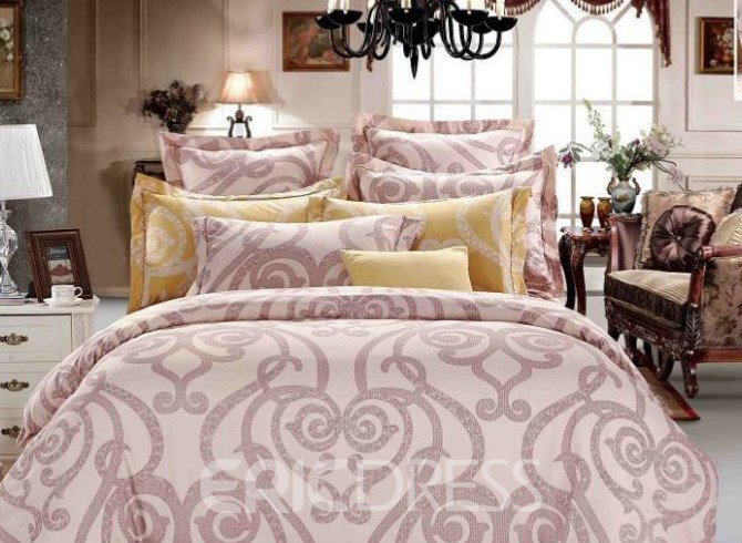 Vivilinen Courtyard Floral Pattern 4-Piece Polyester Duvet Cover Sets