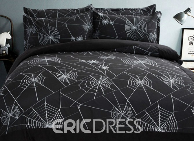 Vivilinen Spider Web Design 4-Piece Duvet Cover Sets