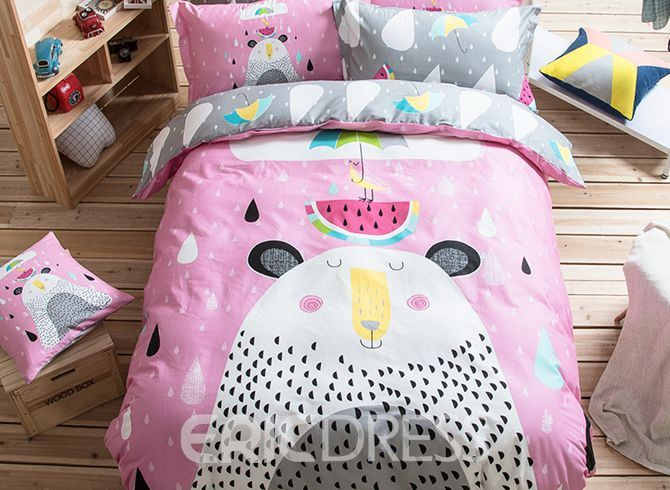 Vivilinen Summer Day Pattern Kids Cotton 4-Piece Duvet Cover Sets