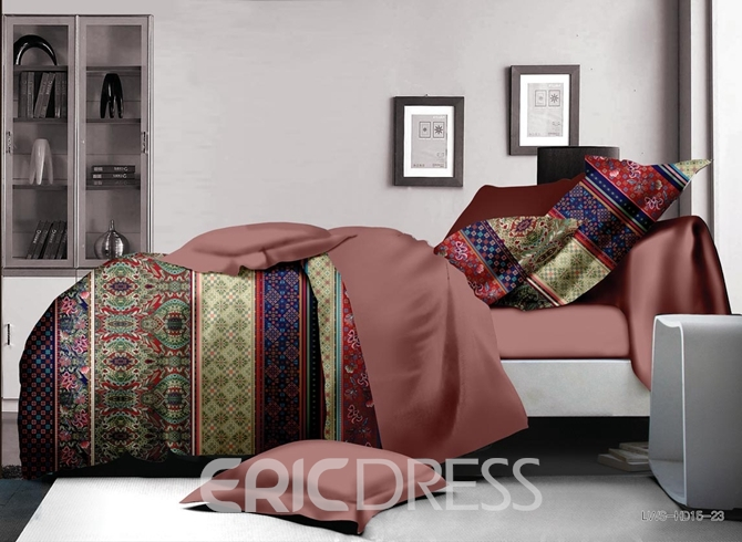 Vivilinen Beautiful Ethnic Style Polyester 4-Piece Duvet Cover Sets
