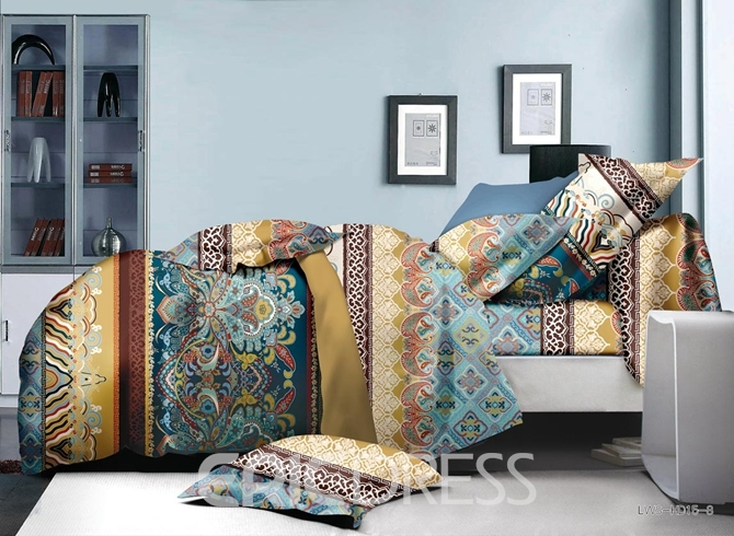 Vivilinen Bright Ethnic Style Polyester 4-Piece Duvet Cover Sets
