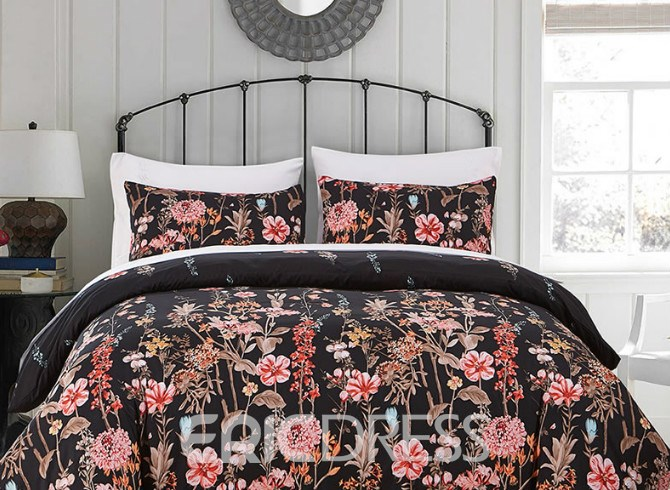 Vivilinen Flowers Printed Polyester 3-Piece Bedding Sets/Duvet Cover