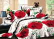 Vivilinen Realistic 3D Red Rose Printed Polyester 4-Piece Bedding Sets