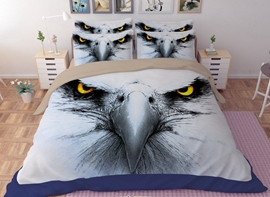 Vivilinen Powerful Bald Eagle Print 4-Piece Polyester Duvet Cover Sets