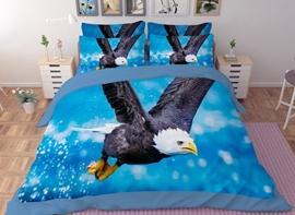 Vivilinen Imperial Bald Eagle Print 4-Piece Polyester Duvet Cover Sets