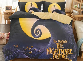 Vivilinen 3D Halloween's Pumpkin Printed Polyester 3-Piece Bedding Sets/Duvet Covers