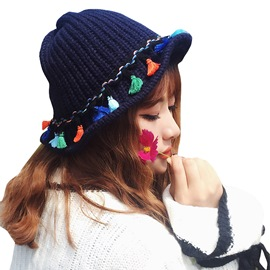 Ericdress Cute Colorful Wool Knitting Vintage Hat for Girls