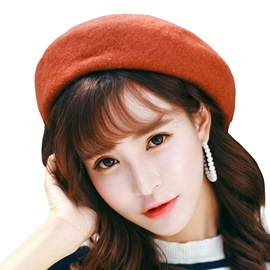 Ericdress Graceful Pure Color High-End Sweet Beret