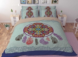 Vivilinen 3D Dream Catcher Printed Polyester 4-Piece Bedding Sets/Duvet Covers