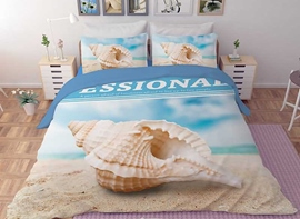 Vivilinen 3D Conch Printed Polyester 4-Piece Bedding Sets/Duvet Covers