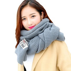 Ericdress Soild Color Thicken All Match Scarf for Women