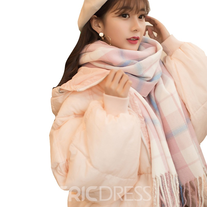Ericdress Sweet Grid Thicken All Match Wool Scarf for Women