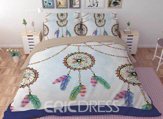 Vivilinen 3D Mysterious Dream Catcher Printed Polyester 4-Piece Bedding Sets/Duvet Covers