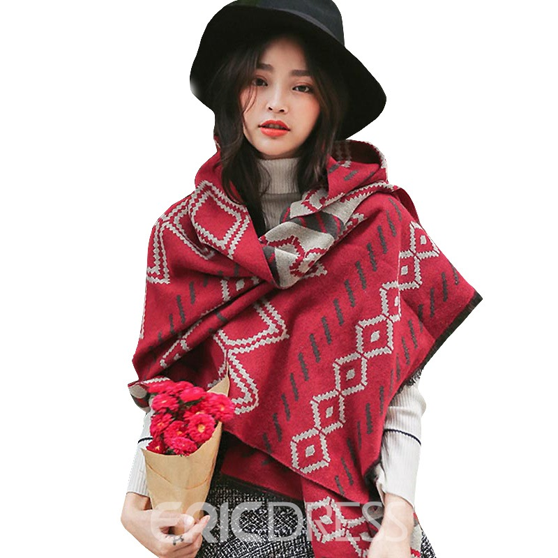 Ericdress Geometric Pattern Warm Autumn&Winter Long Women's Scarf
