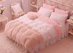Vivilinen Fancy Color Block Soft Velvet 4-Piece Bedding Set/Duvet Cover