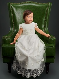 Ericdress Cap Sleeves Baptism Dress for Girls Christening