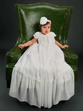 Ericdress Chiffon Infant Girls Baptism Christening Gown