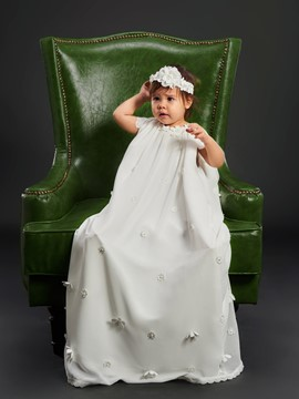 Ericdress Adorable Scoop Cap Sleeves Baby Girls Christening Gown