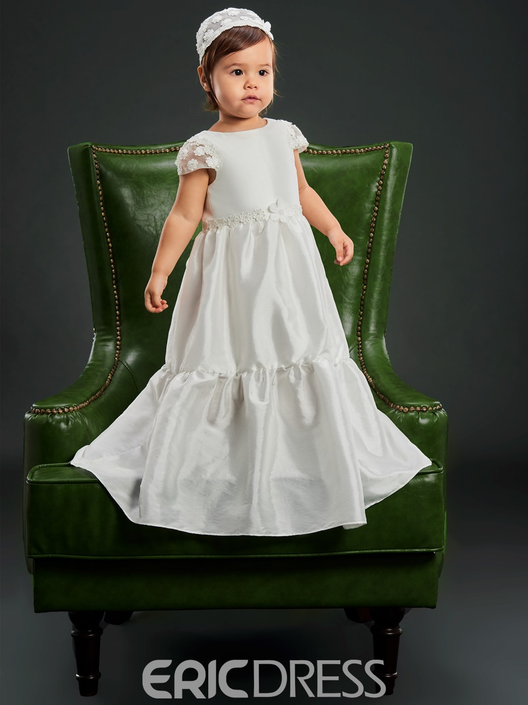 Ericdress Baby Girls Simple Christening Gown for Baptism with Hat ...