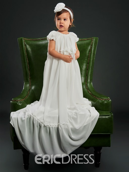 Ericdress Flowers Infant Girls Baptism Christening Gown