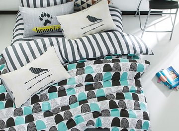 Vivilinen Nordic Style Semi-Circles Printed Cotton Kids Duvet Covers/Bedding Sets
