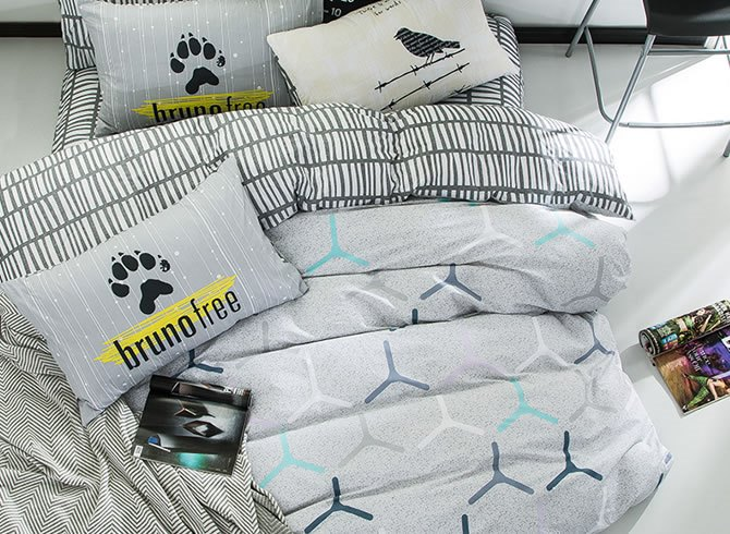 Vivilinen Nordic Style Cotton Gray Kids Duvet Covers/Bedding Sets