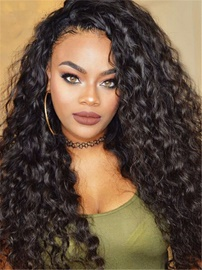 Ericdress Long Comfortable 150% Density Curly African American Synthetic Hair Lace Front Wigs 24 Inches