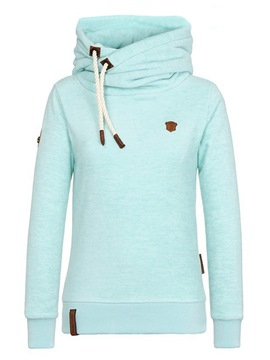 ericdress dünner Plain High Neck cooler Hoodie