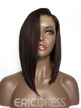 Ericdress Medium Chic Straight African American Synthetic Hair Lace Front Wigs 14 Inches